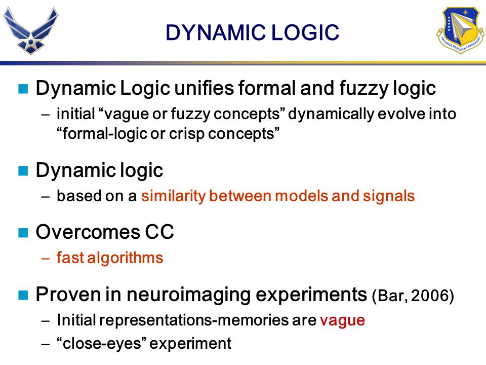 DYNAMIC LOGIC Dynamic Logic unifies formal and fuzzy logic