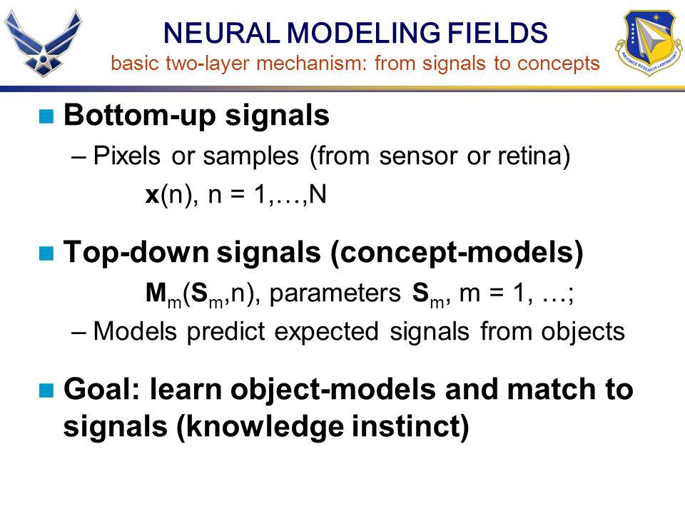 Top-down signals (concept-models)