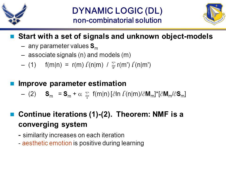DYNAMIC LOGIC (DL) non-combinatorial solution