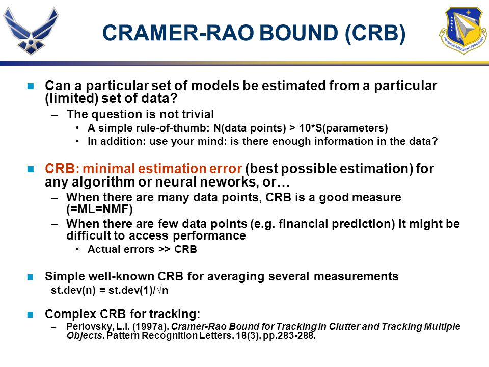 CRAMER-RAO BOUND (CRB)