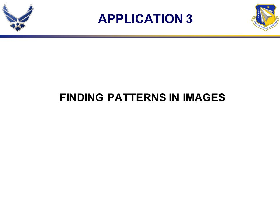 FINDING PATTERNS IN IMAGES