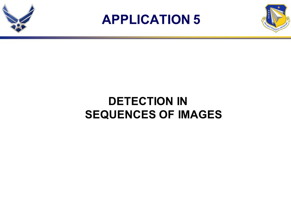 DETECTION IN SEQUENCES OF IMAGES