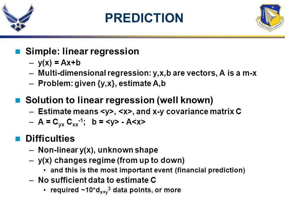 PREDICTION Simple: linear regression