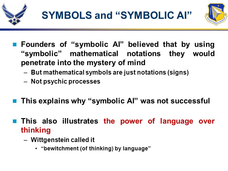 SYMBOLS and SYMBOLIC AI