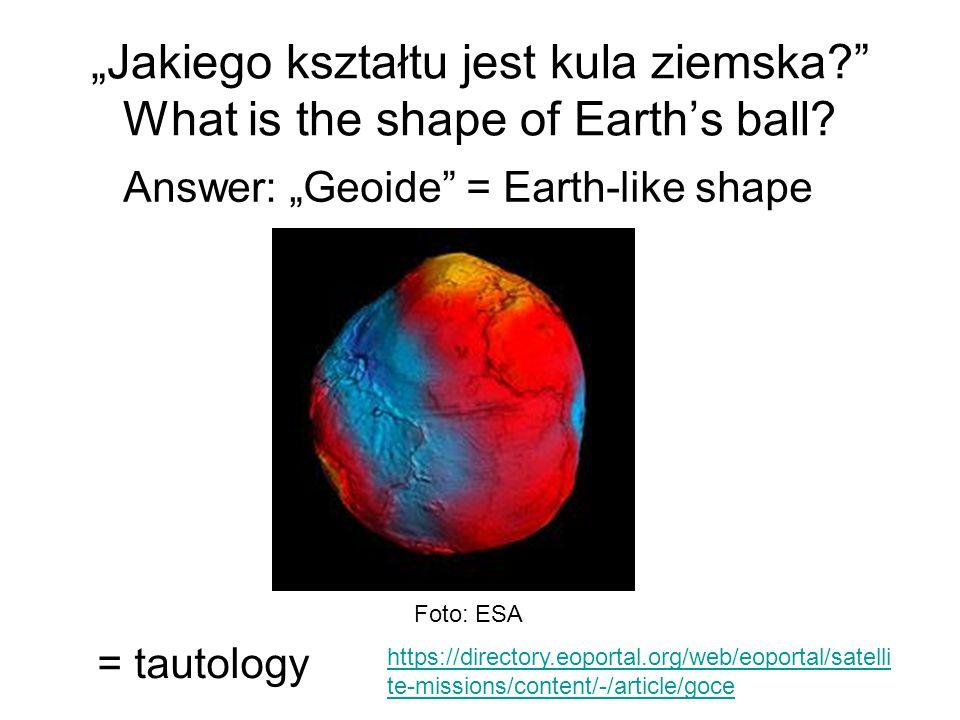 """""""Jakiego kształtu jest kula ziemska"""
