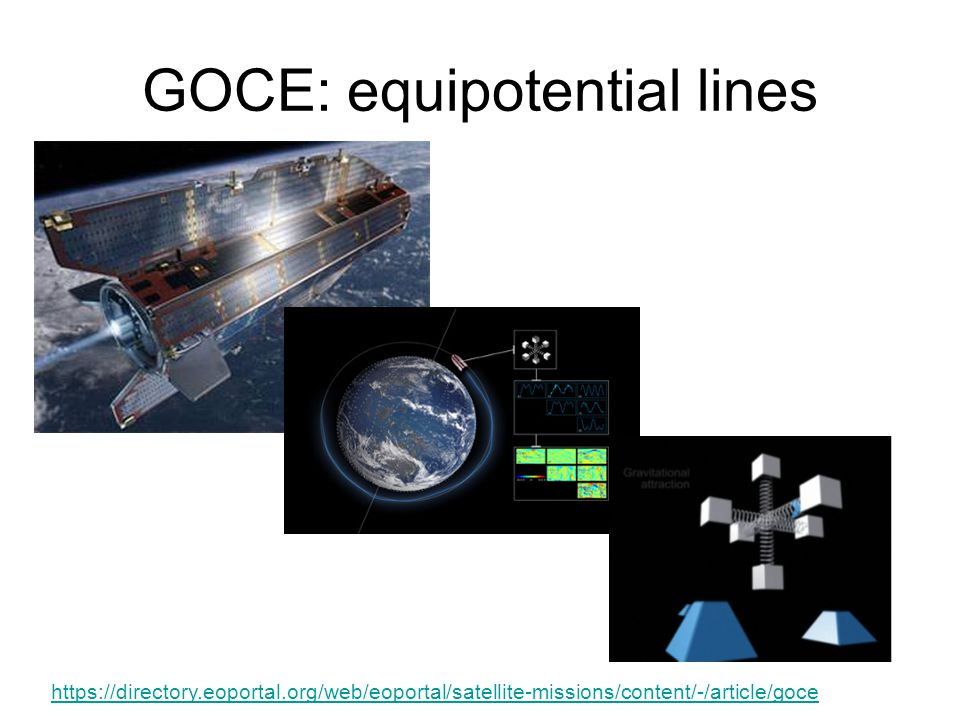 GOCE: equipotential lines