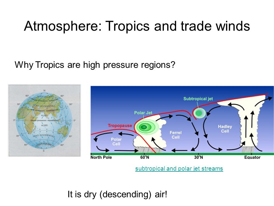 Atmosphere: Tropics and trade winds