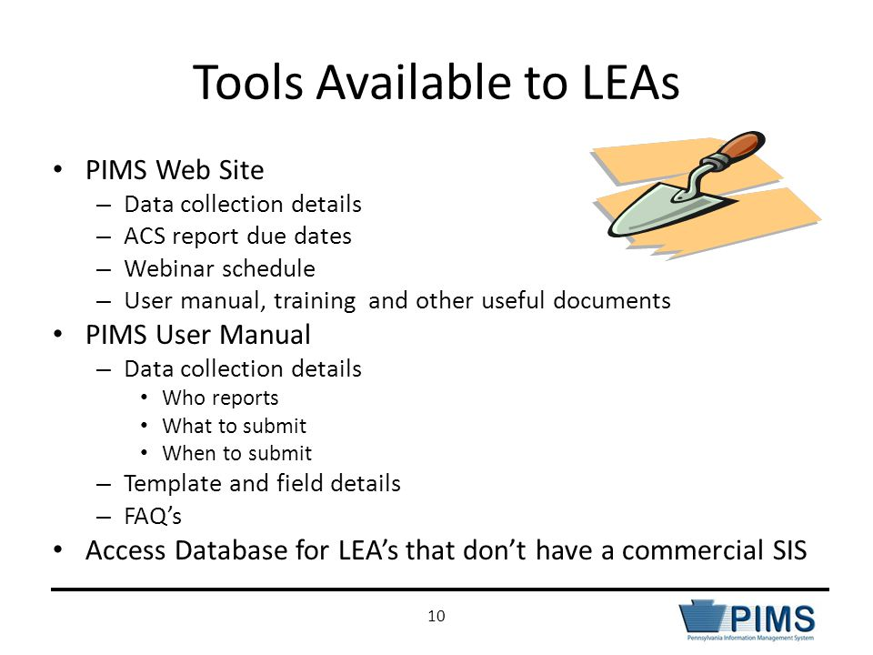 Tools Available to LEAs