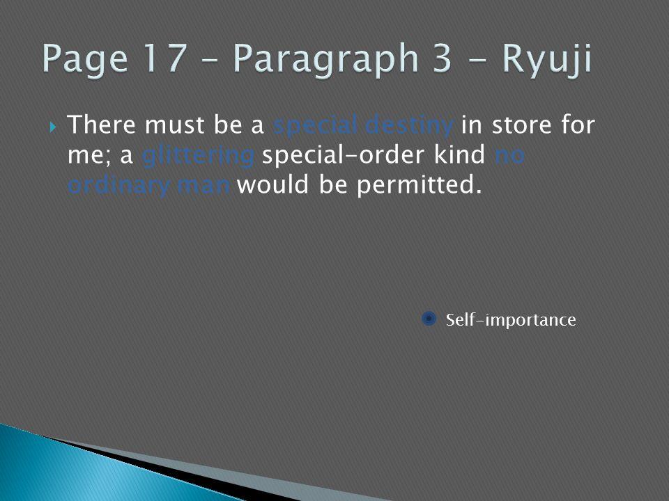 Page 17 – Paragraph 3 - Ryuji
