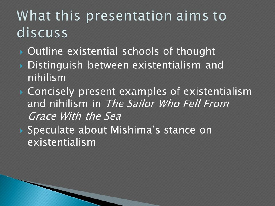 What this presentation aims to discuss