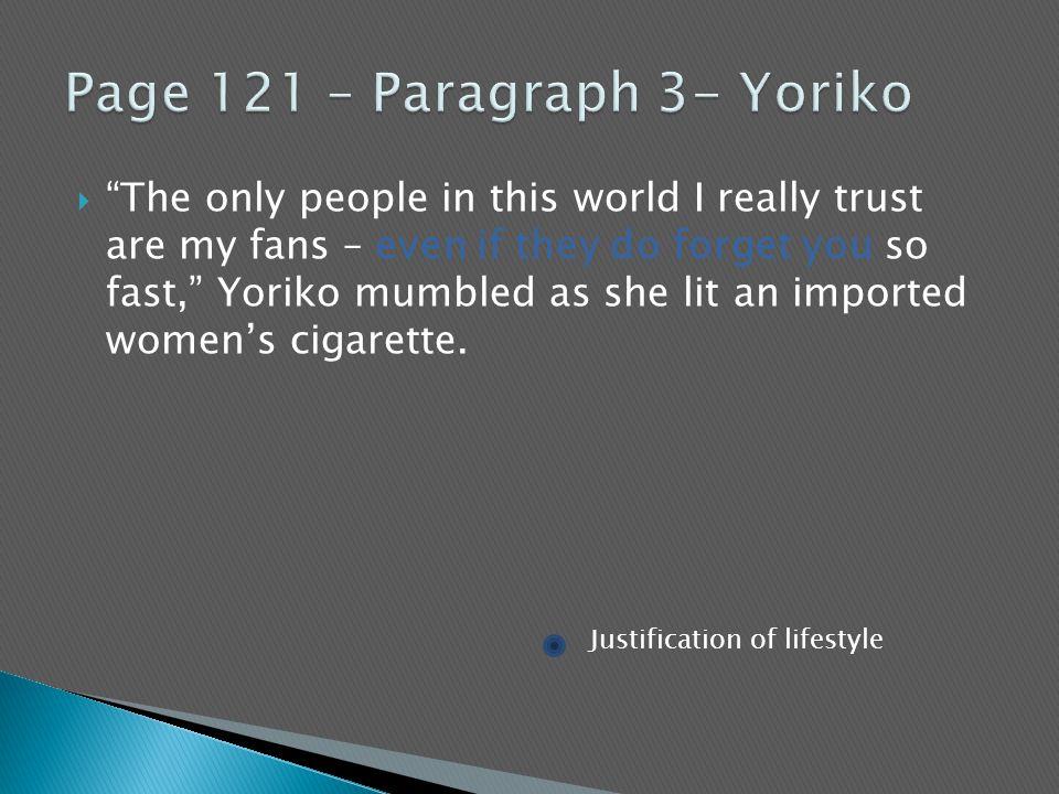 Page 121 – Paragraph 3- Yoriko