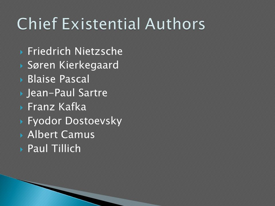 Chief Existential Authors