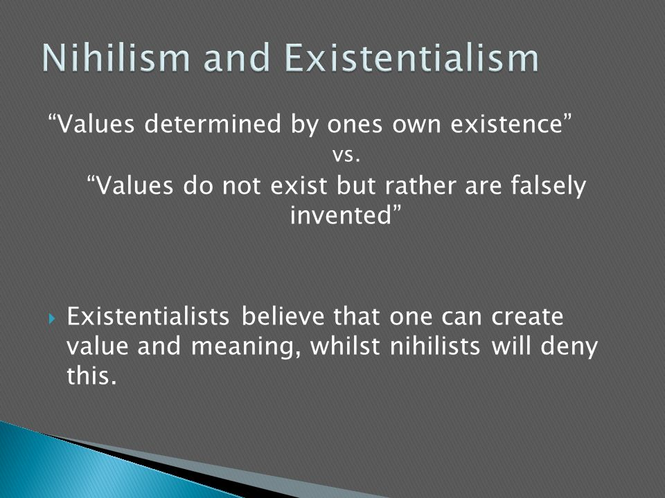 Nihilism and Existentialism