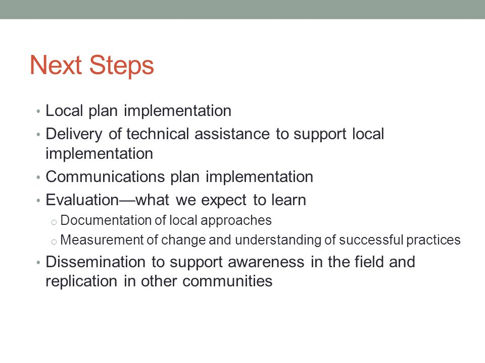 Local plan implementation