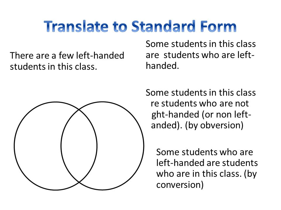 Translate to Standard Form