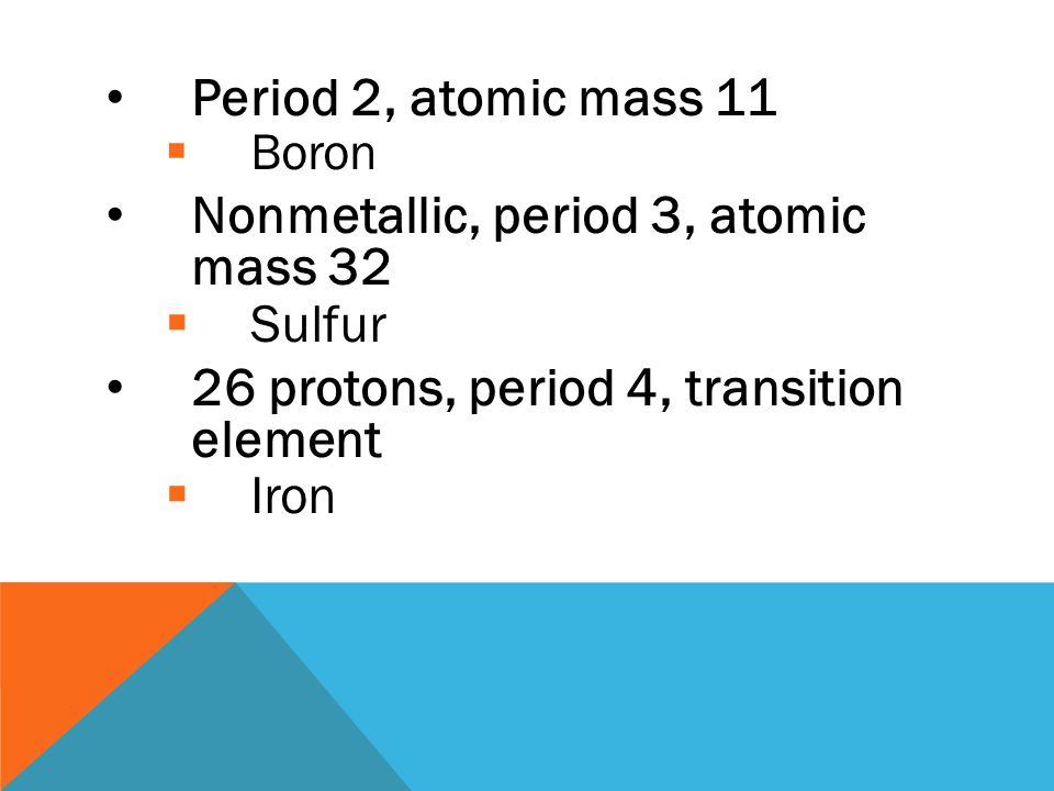 Who am i ppt video online download nonmetallic period 3 atomic mass 32 sulfur urtaz Image collections