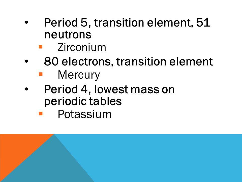 Period 5, transition element, 51 neutrons