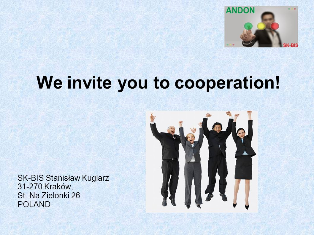We invite you to cooperation!