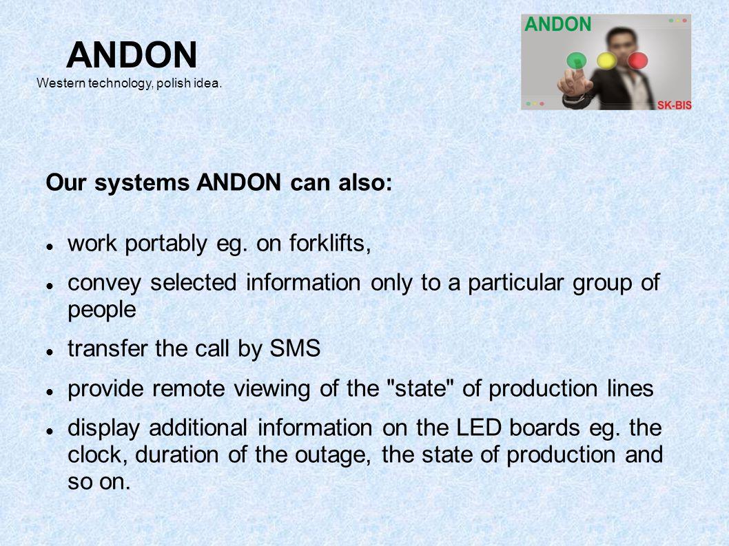 ANDON Western technology, polish idea.