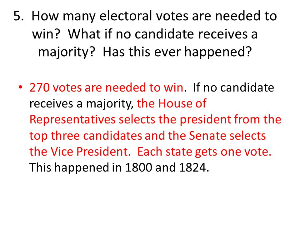 5. How many electoral votes are needed to win