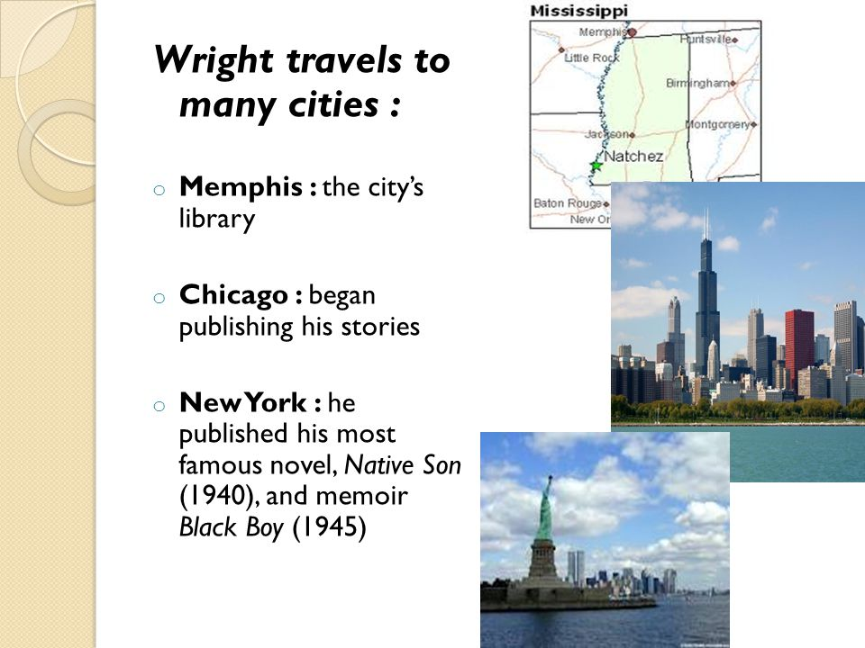 Wright travels to many cities :