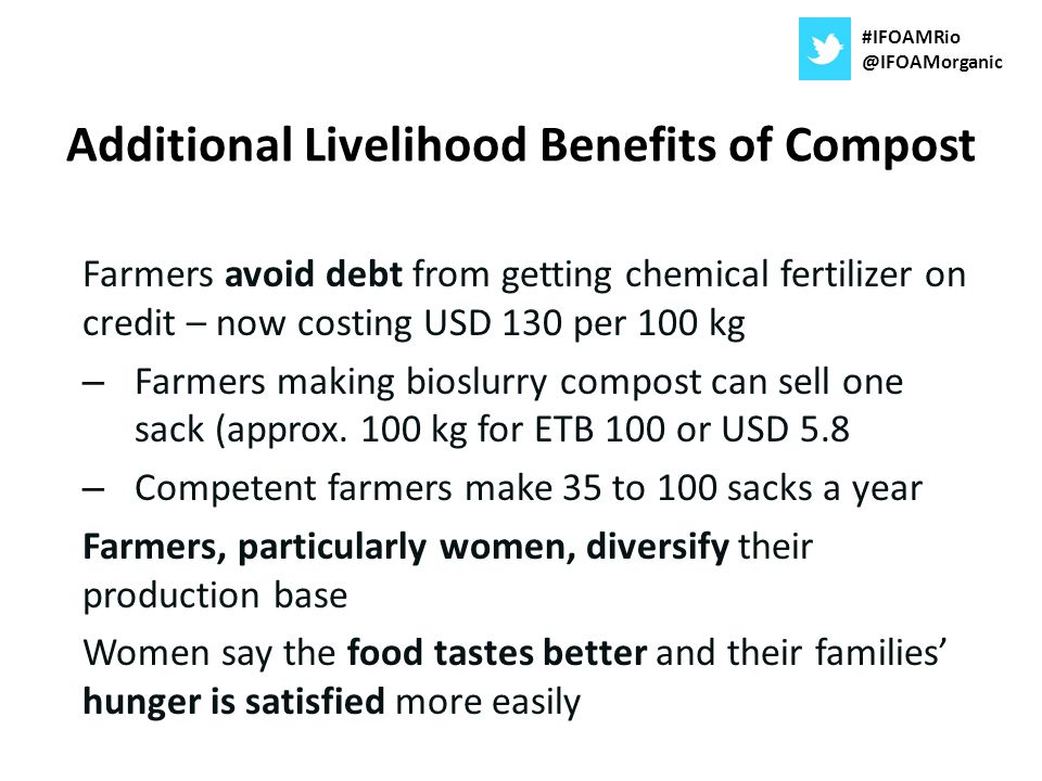 Additional Livelihood Benefits of Compost