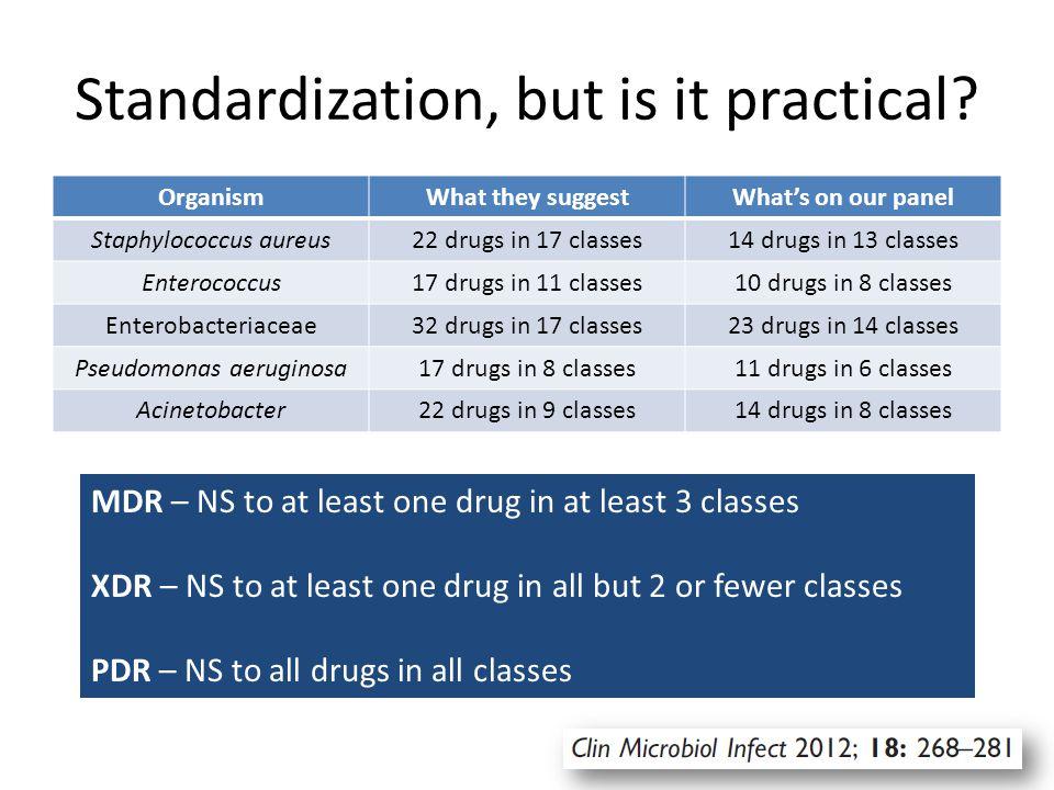 Standardization, but is it practical