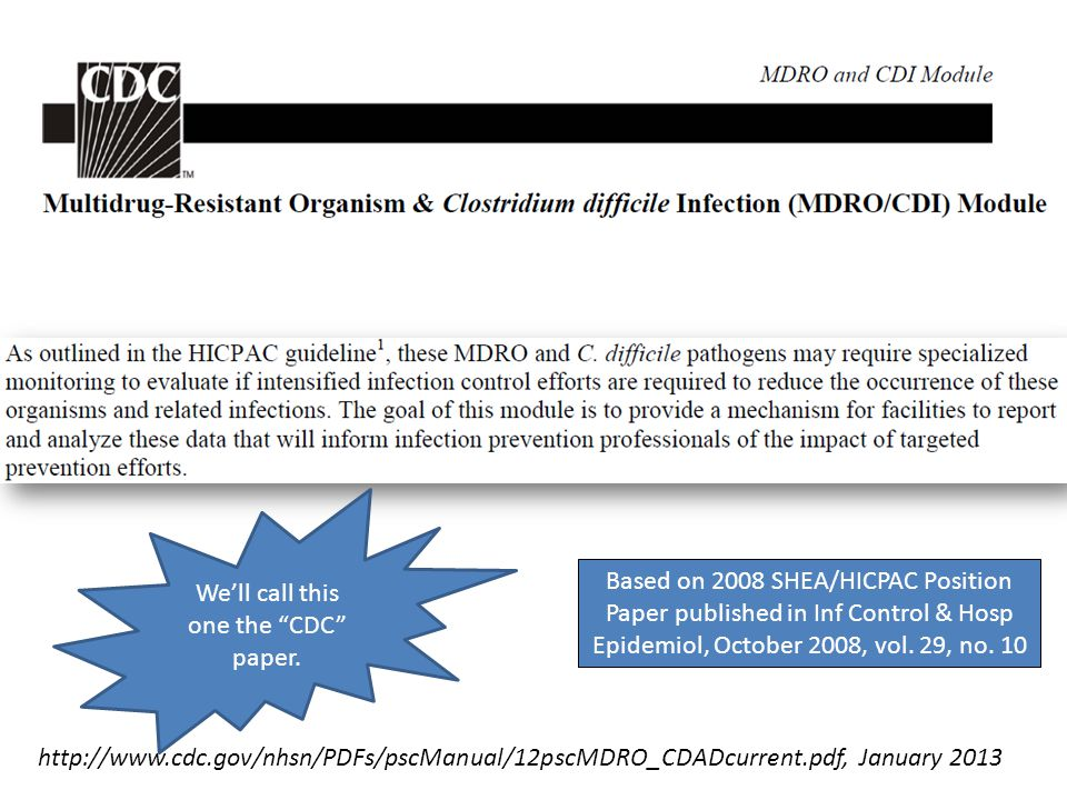 We'll call this one the CDC paper.