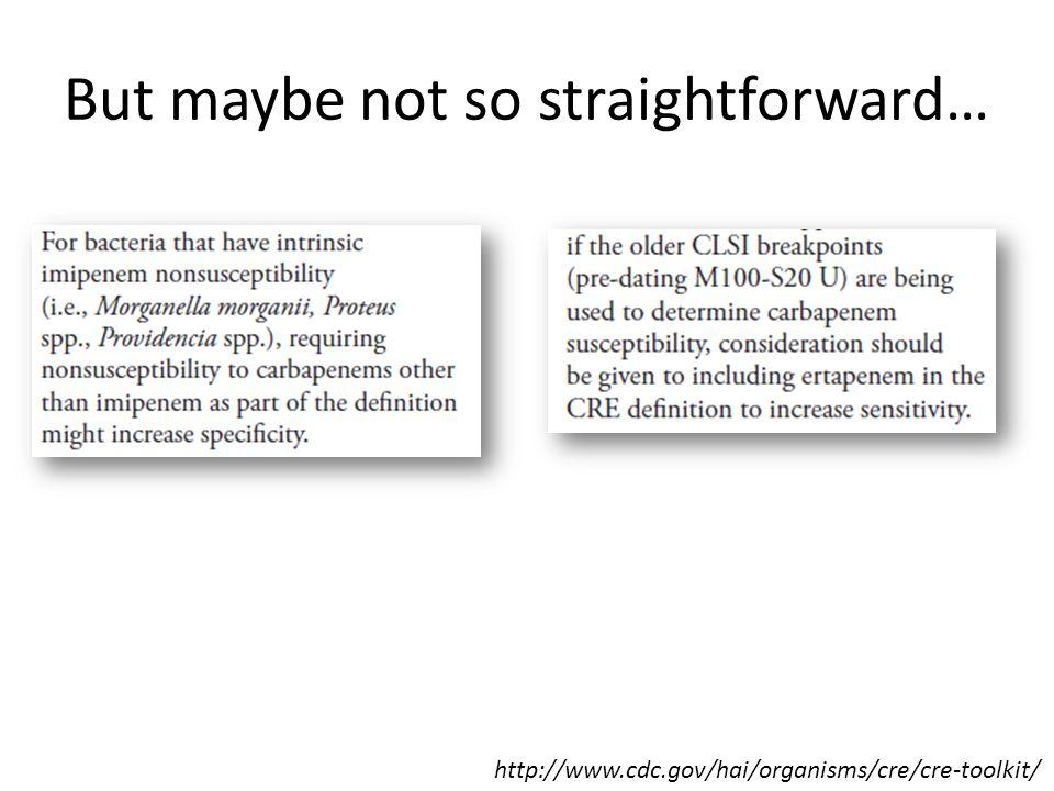 But maybe not so straightforward…