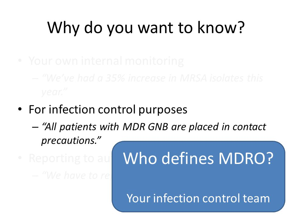 Your infection control team