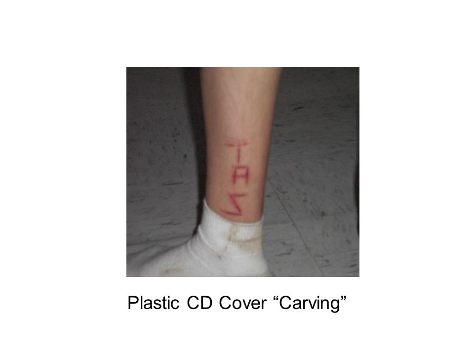 Plastic CD Cover Carving