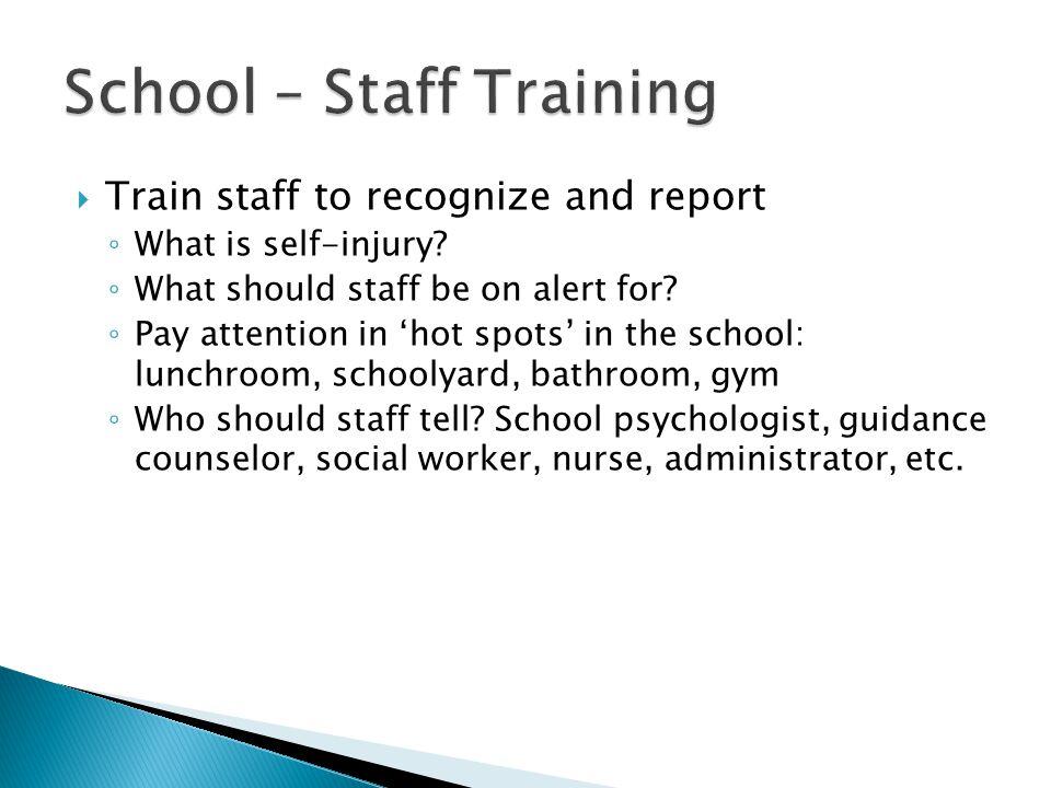 School – Staff Training