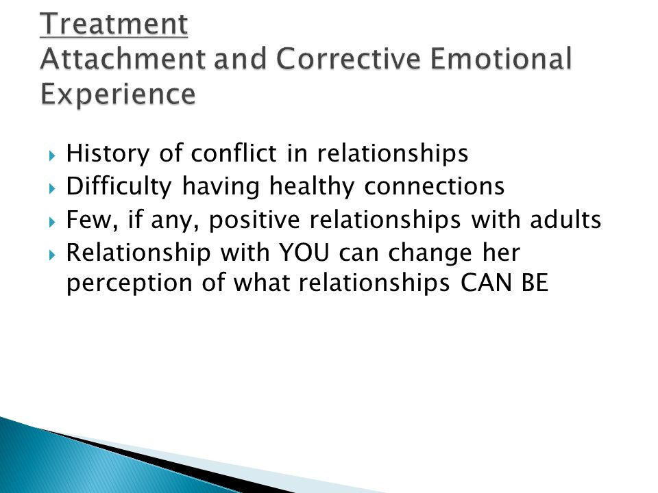 Treatment Attachment and Corrective Emotional Experience