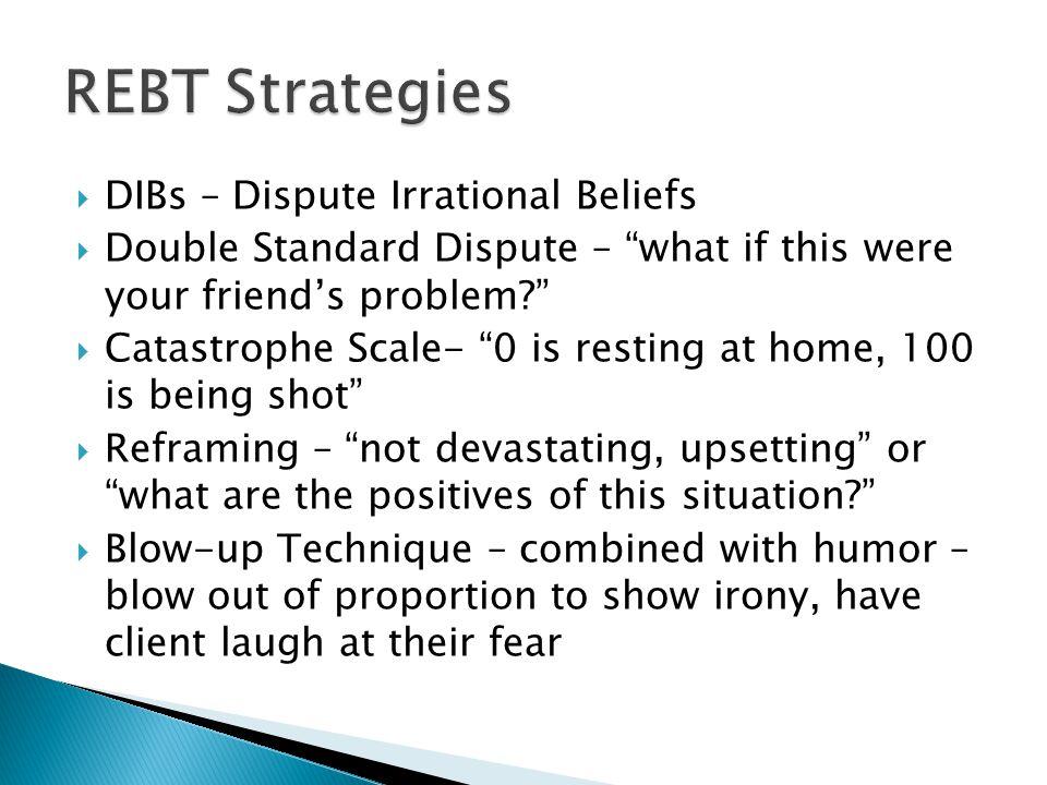 REBT Strategies DIBs – Dispute Irrational Beliefs