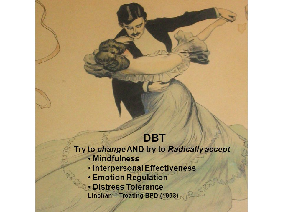 DBT Try to change AND try to Radically accept Mindfulness