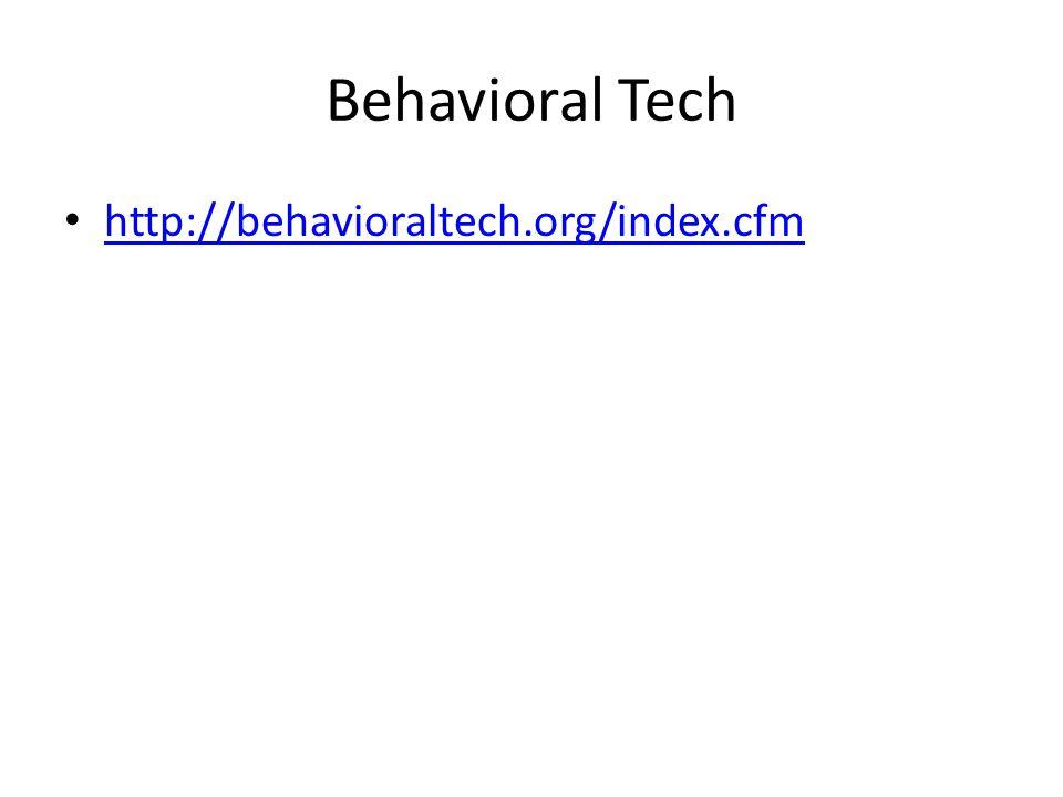 Behavioral Tech http://behavioraltech.org/index.cfm