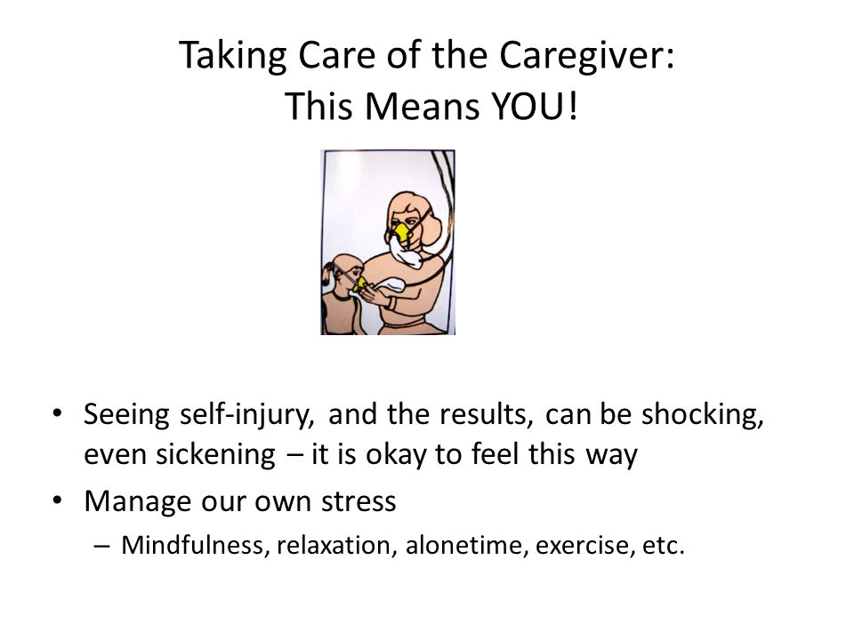 Taking Care of the Caregiver: This Means YOU!