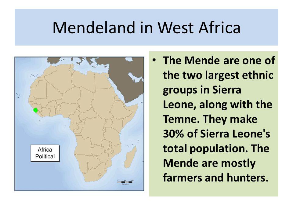 Mendeland in West Africa