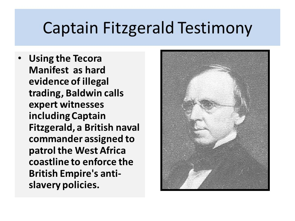 Captain Fitzgerald Testimony