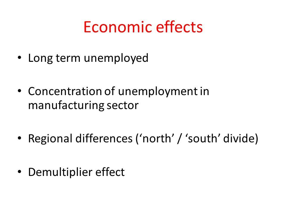 Economic effects Long term unemployed