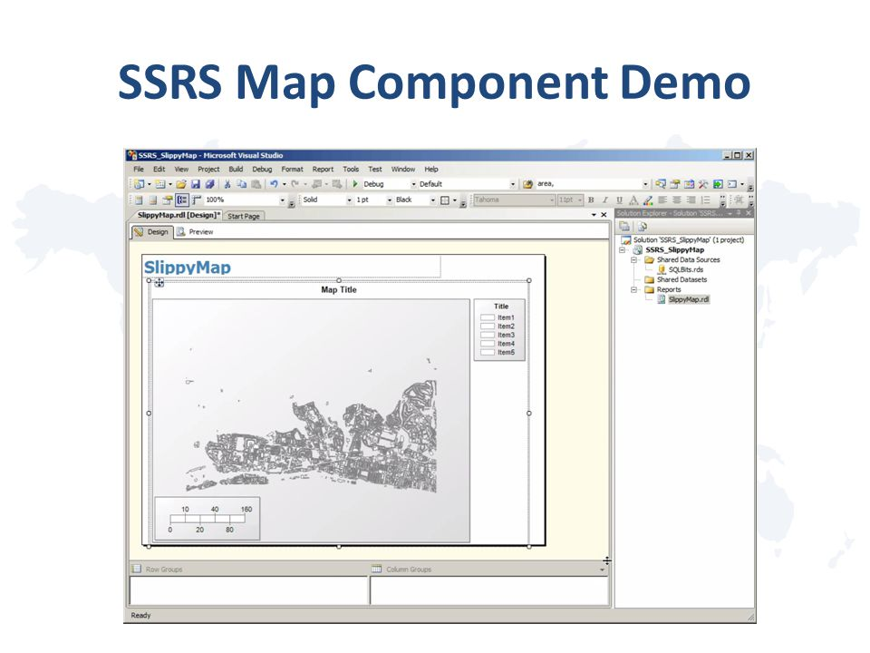 SSRS Map Component Demo