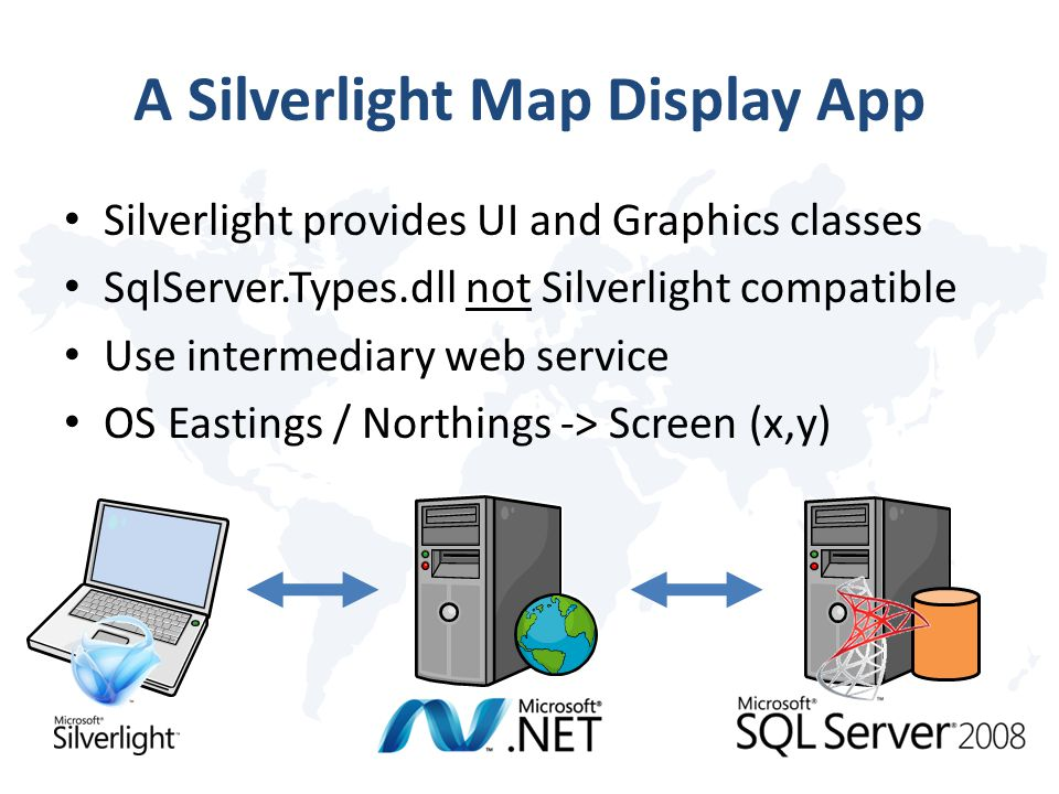 A Silverlight Map Display App