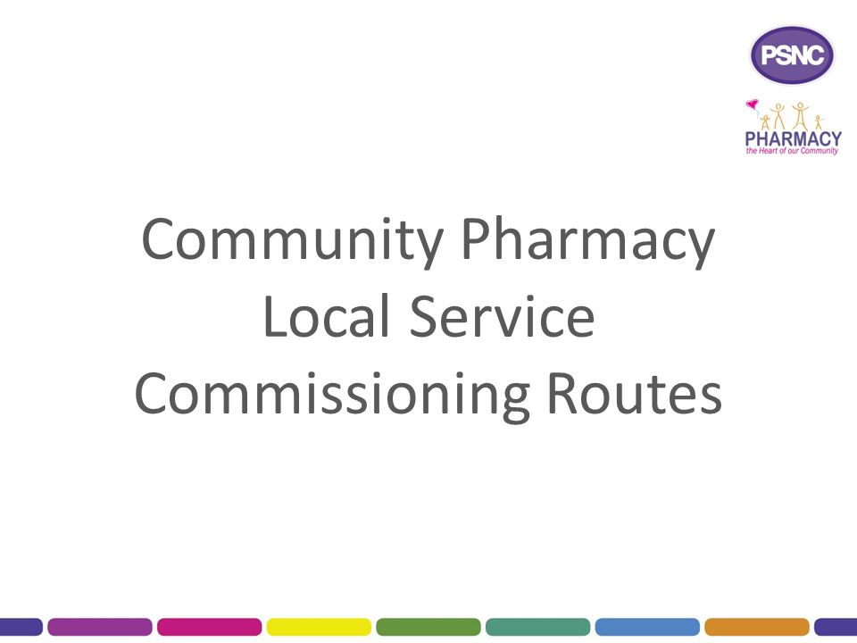 Community Pharmacy Local Service Commissioning Routes