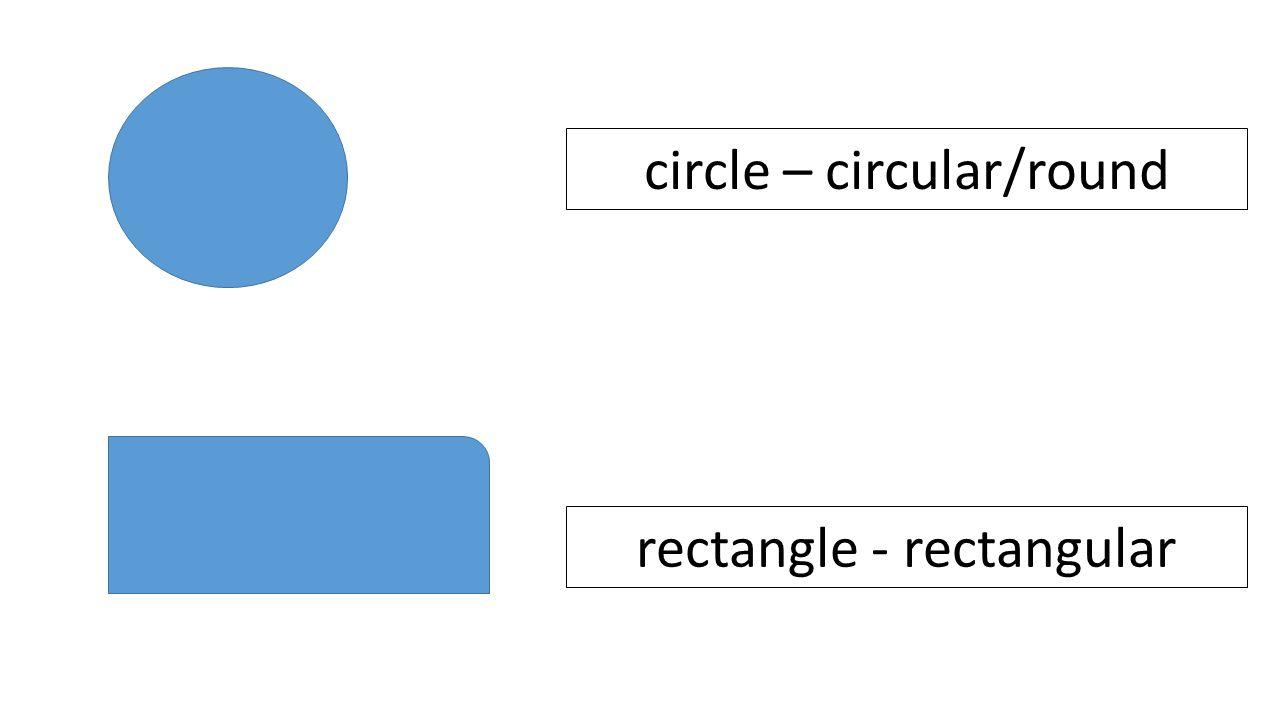 circle – circular/round