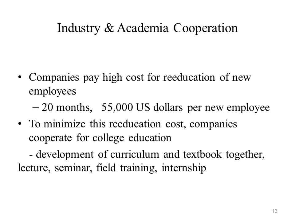 Industry & Academia Cooperation