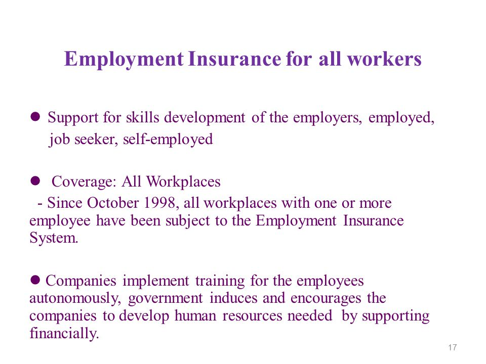 Employment Insurance for all workers