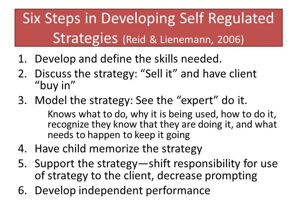 Six Steps in Developing Self Regulated Strategies (Reid & Lienemann, 2006)