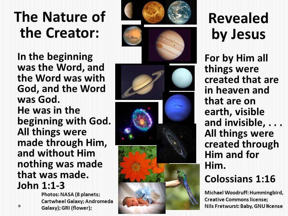 The Nature of the Creator: