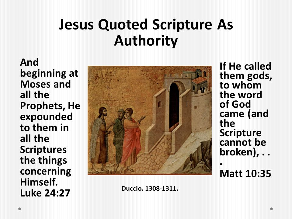 Jesus Quoted Scripture As Authority
