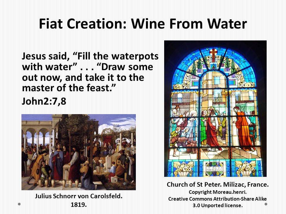 Fiat Creation: Wine From Water